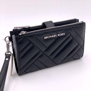 Michael Kors Large Wallet Wristlet Black
